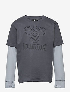 hmlMALTE T-SHIRT L/S - long-sleeved t-shirts - ombre blue