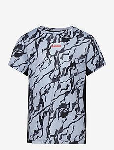 hmlNOAH T-SHIRT S/S - short-sleeved - blue fog