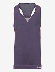 hmlHARPER SEAMLESS TOP - sleeveless - ombre blue