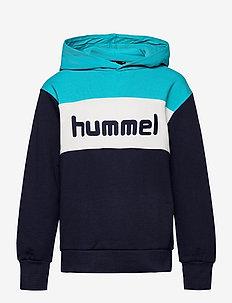 hmlMORTEN HOODIE - hoodies - scuba blue