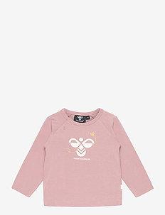 hmlALMA T-SHIRT L/S - long-sleeved t-shirts - woodrose