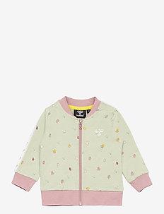 hmlEMMA ZIP JACKET - sweatshirts - desert sage