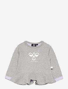 hmlALBERTE SWEATSHIRT - sweatshirts - grey melange