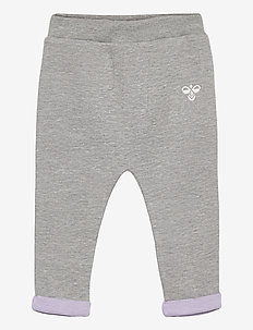hmlALBERTE PANTS - trousers - grey melange