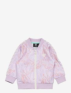 hmlLAURA ZIP JACKET - sweatshirts - pastel lilac