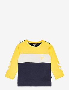 hmlLAURITS T-SHIRT L/S - langærmede t-shirts - maize