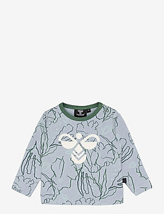 hmlMAGNE T-SHIRT L/S - long-sleeved t-shirts - blue fog