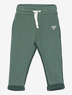 hmlHUGO PANTS - sweatpants - blue spruce