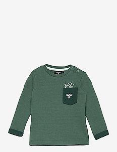 hmlHUGO SWEATSHIRT - sweatshirts - blue spruce