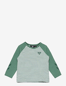 hmlAKSEL T-SHIRT L/S - long-sleeved t-shirts - blue spruce