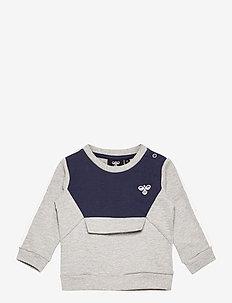 hmlOTTO SWEATSHIRT - sweaters - grey melange