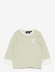 hmlMAUI T-SHIRT L/S - long-sleeved t-shirts - desert sage
