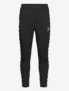 hmlNATHAN 2.0 TAPERED PANTS - pantalons - black