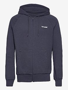 hmlISAM ZIP HOODIE - basic sweatshirts - blue nights