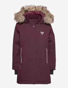 hmlALMA COAT - insulated jackets - fudge