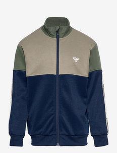 hmlEAZY ZIP JACKET - sweatshirts - black iris