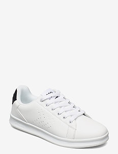 BUSAN - baskets basses - white/black