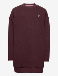 hmlSAWA DRESS L/S - sweaters - fudge