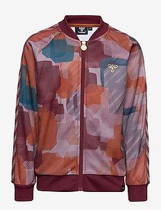hmlBELISH ZIP JACKET - sweaters - bombay brown