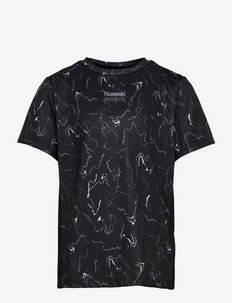 hmlNOAH T-SHIRT S/S - kortærmede t-shirts - black