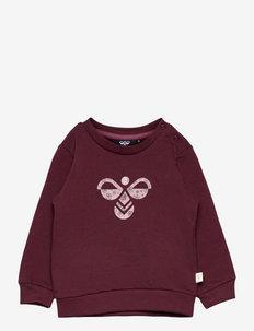 hmlLIME SWEATSHIRT - sweatshirts - chocolate truffle