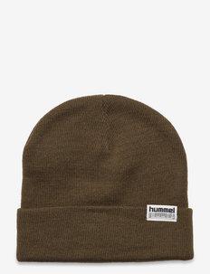 hmlPARK BEANIE - bonnets - dark olive