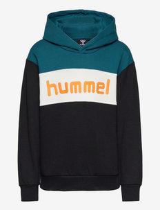 hmlMORTEN HOODIE - hoodies - blue coral