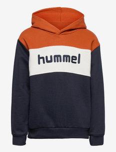 hmlMORTEN HOODIE - hoodies - bombay brown