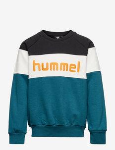 hmlCLAES SWEATSHIRT - sweatshirts - blue coral