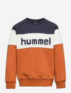 hmlCLAES SWEATSHIRT - sweaters - bombay brown