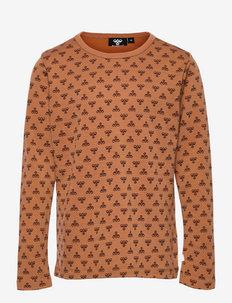 hmlVILMO T-SHIRT L/S - langærmede t-shirts - glazed ginger