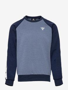hmlWULBATO SWEATSHIRT - sweatshirts - china blue