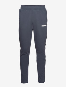 hmlLEGACY TAPERED PANTS - sweatpants - blue nights