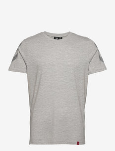 hmlLEGACY CHEVRON T-SHIRT - t-shirts - grey melange