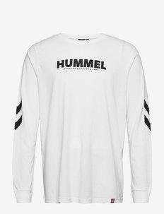 hmlLEGACY T-SHIRT L/S - bluzki z długim rękawem - white