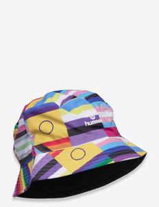 hmlFLAG REVERSIBLE BUCKET HAT - hatter - black/multi colour