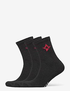 ASTRALIS 3-PACK BASIC SOCKS - chaussettes régulières - black
