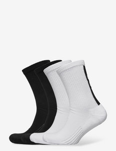 hmlLEGACY CHEVRON 4-PACK SOCKS MIX - skarpety crew - white/black