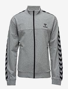 CLASSIC BEE AAGE ZIP JACKET - swetry - grey melange