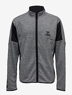 CLASSIC BEE PHI ZIP JACKET - DARK GREY MELANGE