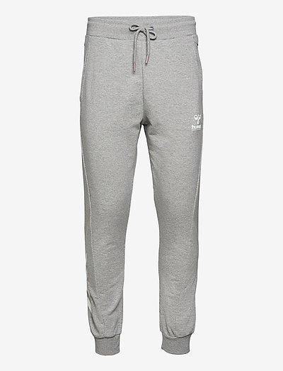 hmlISAM REGULAR PANTS - trainingsbroek - grey melange