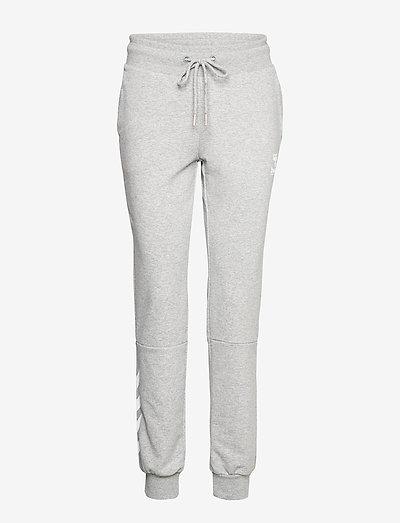 hmlNONI REGULAR PANTS - bukser - grey melange