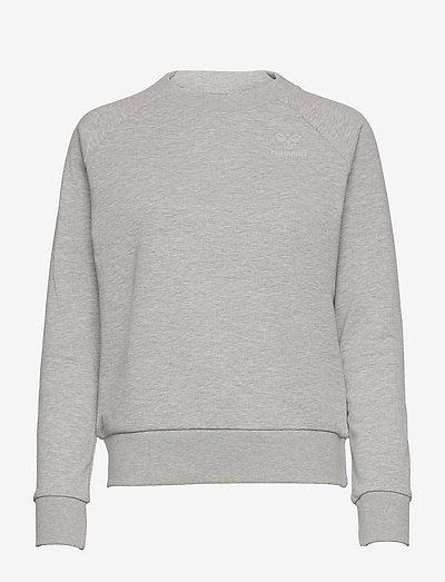 hmlNONI SWEATSHIRT - sweatshirts - grey melange