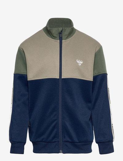 hmlEAZY ZIP JACKET - sweaters - black iris