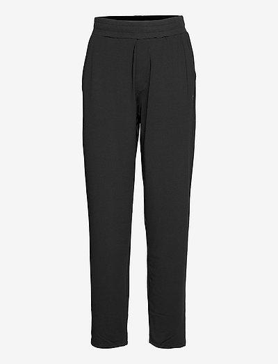 hmlLUISE LOOSE PANTS - spodnie treningowe - black