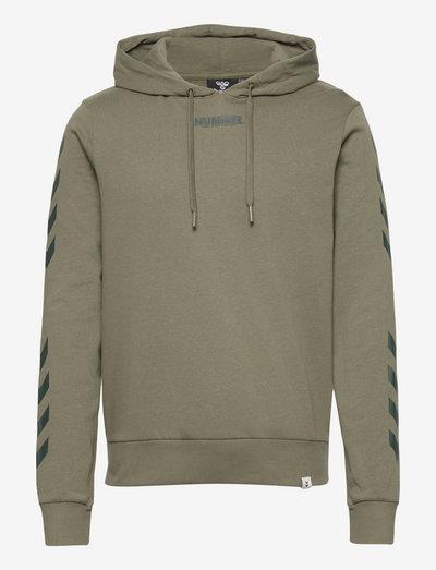 hmlLEGACY HOODIE - hoodies - beetle