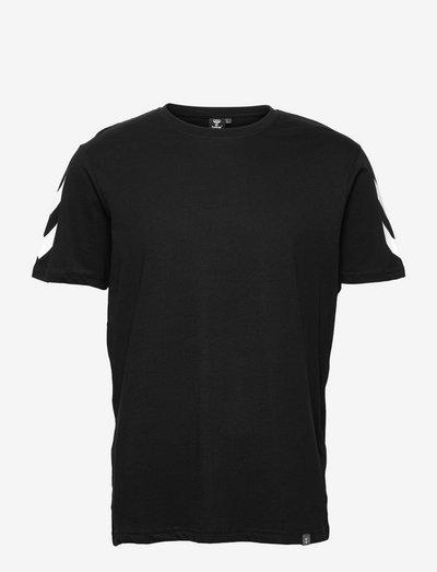 hmlLEGACY CHEVRON T-SHIRT - t-shirts - black