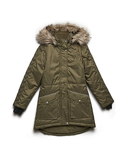 HMLSELINA COAT - BURNT OLIVE