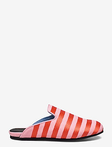 Hums Striped Canvas Slipper - mules & slipins - pink
