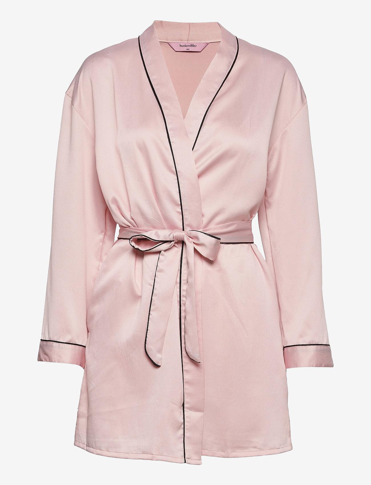 Hunkemöller - Kimono Hammered Satin Bow - pegnoirs - peach skin - 0